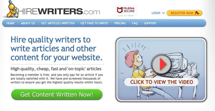 Hire Writers Affiliate Program